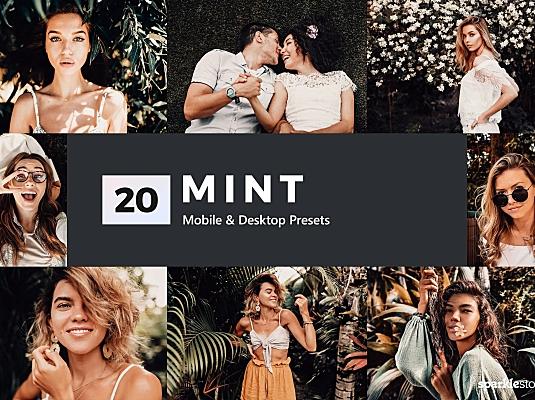 20款薄荷绿色调照片风格LR预设 20-mint-lightroom-presets-and-luts