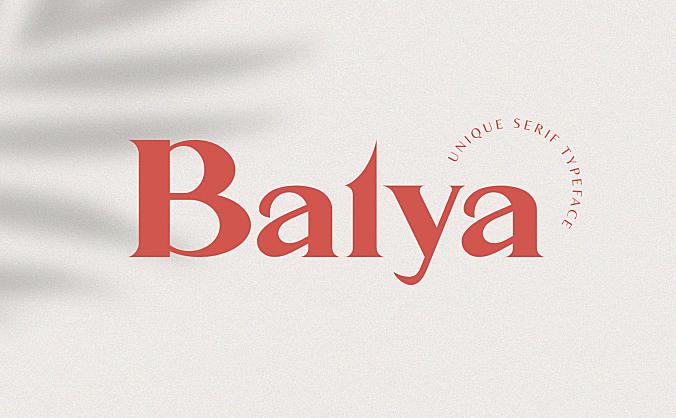 经典衬线海报杂志封面广告字体 Balya – a classic Typeface