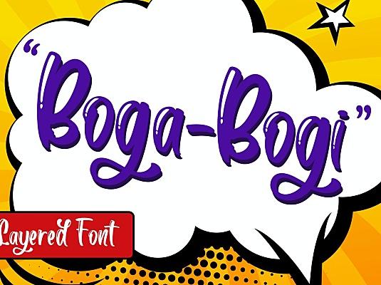 经典游戏提示对话框字体素材 boga-bogi-layered-font