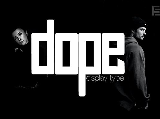 涂料-独特的标题显示标志字体 dope-unique-display-logo-typeface