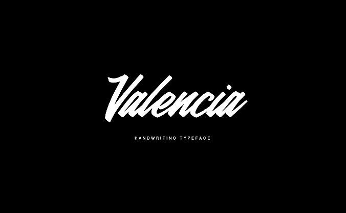 美食菜单餐馆报价手写字体设计 valencia-calligraphic-typeface