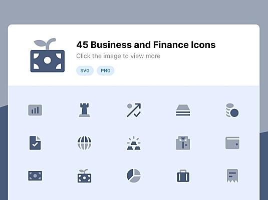 45枚双色调滤镜风格商业与金融主题图标 business-and-finance-duotone-icons