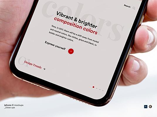 手持iPhone手机APP界面局部展示设计样机 iphone-app-mockups