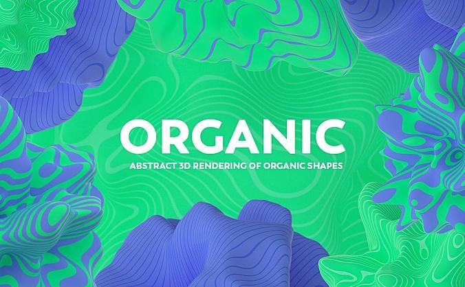 抽象派3D液体状有机物质形状背景图素材v2 abstract-3d-rendering-of-organic-shapes