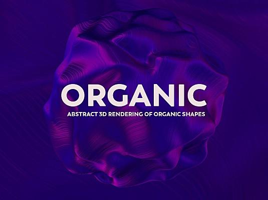 抽象3D绘制有机物质形状背景图素材v1 abstract-3d-rendering-of-organic-shapes