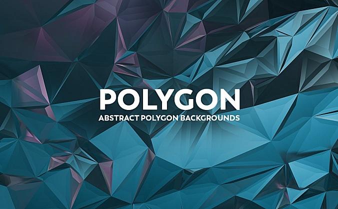 几何抽象多边形镜面背景图素材v1 abstract-polygon-backgrounds