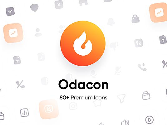 80多个常见通用高级热门icon图标 Odacon Premium Icons