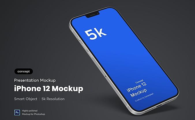 5K分辨率iPhone12苹果手机设计样机模板 iphone-12-mockup-concept