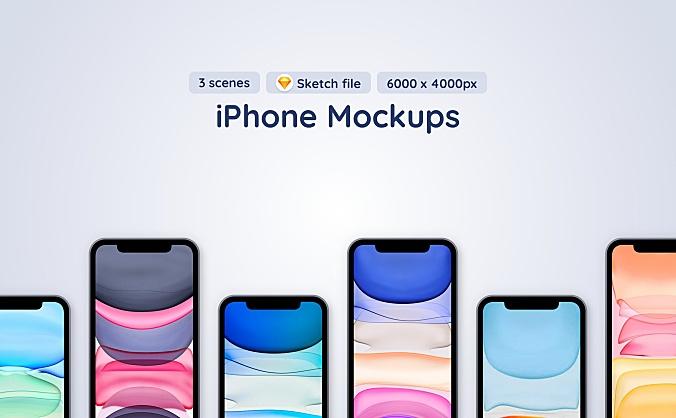 iPhone 12 Pro苹果手机Sketch设计样机模板 iphone-12-pro-3-sketch-mockup