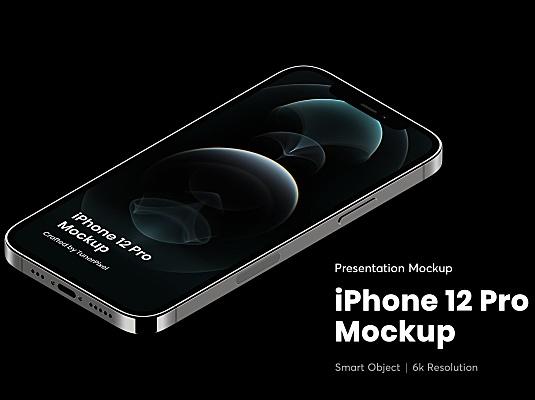 iPhone 12 Pro苹果手机屏幕展示样机 iphone-12-pro-mockup
