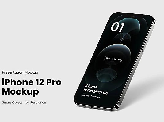 6K分辨率iPhone 12 Pro苹果手机屏幕UI设计样机 iphone-12-pro-mockup